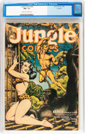 Golden Age (1938-1955):Adventure, Jungle Comics #46 Rockford pedigree (Fiction House, 1943) CGC NM- 9.2 Cream to off-white pages....