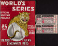 Baseball Collectibles:Tickets, 1940 World Series (Game 5) Program and Ticket Stubs....