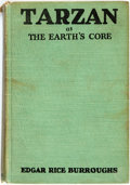 Books:Science Fiction & Fantasy, Edgar Rice Burroughs. INSCRIBED BY WIFE. Tarzan at the Earth's Core. New York: Metropolitan Books, 1930. First editi...