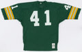 Football Collectibles:Uniforms, 1971-73 Paul Gibson Game Worn Green Bay Packers Jersey....