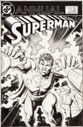 Original Comic Art:Covers, Brian Bolland Superman Annual #12 Cover Original Art (DC,1986)....