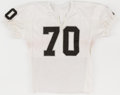 Football Collectibles:Uniforms, Mid 1980's Henry Lawrence Game Worn Oakland Raiders Jersey....