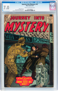 Journey Into Mystery #47 (Atlas, 1957) CGC FN/VF 7.0 Cream to off-white pages
