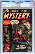 Golden Age (1938-1955):Horror, Journey Into Mystery #8 (Atlas, 1953) CGC FN- 5.5 Cream tooff-white pages....