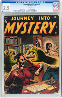 Journey Into Mystery #1 (Atlas, 1952) CGC GD+ 2.5 Off-white pages