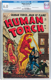 The Human Torch #36 (Atlas, 1954) CGC FN 6.0 Off-white to white pages