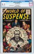 Silver Age (1956-1969):Horror, World of Suspense #1 (Atlas, 1956) CGC VF+ 8.5 Off-white to whitepages....