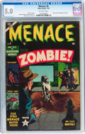 Golden Age (1938-1955):Horror, Menace #5 (Atlas, 1953) CGC VG/FN 5.0 Off-white pages....