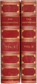 Books:Reference & Bibliography, [Reference & Bibliography]. The Bibliographer. New York:Dodd, Mead & Company, 1902-1903. Two volumes, Volume ...(Total: 2 Items)