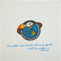Explorers:Space Exploration, Apollo 7 Flown Beta Cloth Mission Insignia Directly from thePersonal Collection of Mission Lunar Module Pilot WaltCunningham... (Total: 2 Items)