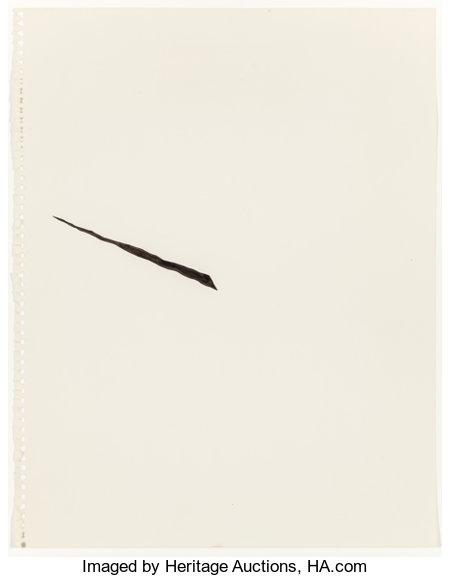 RICHARD TUTTLE (American, b. 1941) Center Point Works 1 (1), 1975 Ink and pencil on paper 14 x 11 inches (35.6 x 27.9...