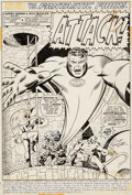 Original Comic Art:Splash Pages, Rich Buckler and Joe Sinnott Fantastic Four #144 Splash Page1 Original Art (Marvel, 1974)....