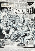 Original Comic Art:Splash Pages, Jim Starlin and Chic Stone Captain Marvel #25 Splash Page 1 Original Art (Marvel, 1973)....