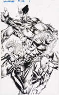 Original Comic Art:Splash Pages, Stephen Platt Wolverine #128 Splash Page 1 Kitty Pryde and Sabretooth Original Art (Marvel, 1998)....