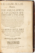 Books:Non-fiction, John Skene. [Scotland-Laws] Regiam Majestatem. The auld lawesand constitutions of Scotland, faithfullie collected furth...
