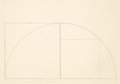 , ROBERT MANGOLD (American, b. 1937). A Line Arc and a Line RightAngle..., 1976. Pencil on wove paper. 27-1/2 x 39-3/8 in...