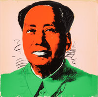 ANDY WARHOL (American, 1928-1987) Mao (with orange face), 1972 Screenprint in colors 35-7/8 x 35-