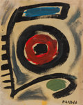 Post-War & Contemporary:Abstract Expressionism, MIGUEL ANGEL PAREJA (Uruguayan, 1908-1984). Formas, 1951.Oil on cardboard. 18-1/8 x 14-1/8 inches (46.0 x 35.9 cm). Sig...