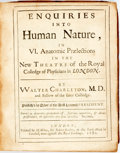 Books:Medicine, Walter Charleton. Enquiries into Human Nature, In VI AnatomicPraelections In The New Theatre of the Royal Colledge of P...