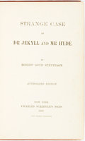 Books:Horror & Supernatural, [Featured Lot]. Robert Louis Stevenson. Strange Case Of Dr.Jekyll And Mr Hyde. Authorized Edition. New York: [J. J....