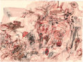 Works on Paper, CAREY MAXON (American, b. 1978). No such thing as a conflict of interests, 2007. Colored pencil on wove paper. 22 x 30 i...