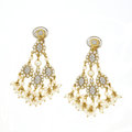 Estate Jewelry:Earrings, Diamond, Cultured And Simulated Pearl, Gold Earrings, Italy. ...
