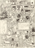 Works on Paper, MICHAEL LANDY (British, b. 1963). We Love the Jobs You Hate (from the Scrapheap Services series), 1996. Ink on wove ...