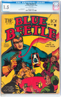 Golden Age (1938-1955):Superhero, Blue Beetle #2 (Fox Features Syndicate, 1940) CGC FR/GD 1.5 Cream to off-white pages....