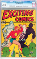 Golden Age (1938-1955):Superhero, Exciting Comics #1 (Nedor/Better/Standard, 1940) CGC GD/VG 3.0 Cream to off-white pages....