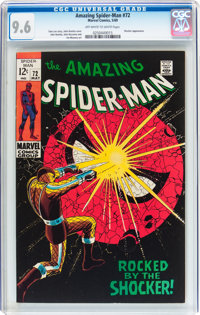The Amazing Spider-Man #72 (Marvel, 1969) CGC NM+ 9.6 Off-white to white pages