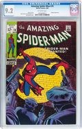 Silver Age (1956-1969):Superhero, The Amazing Spider-Man #70 (Marvel, 1969) CGC NM- 9.2 Off-white pages....