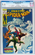 Silver Age (1956-1969):Superhero, The Amazing Spider-Man #74 (Marvel, 1969) CGC NM 9.4 White pages....
