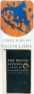 Books:Literature 1900-up, William Gaddis. Pair of First Editions. The Recognitions.New York: Harcourt, Brace and Company, [1955]. Advance rea...(Total: 2 Items)