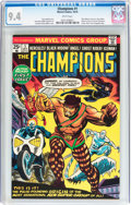 Bronze Age (1970-1979):Superhero, The Champions #1 (Marvel, 1975) CGC NM 9.4 White pages....