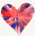Post-War & Contemporary:Contemporary, DAMIEN HIRST (British, b. 1965). Heart Spin Painting.Acrylic on paper. 16-1/4 x 16-1/4 inches (41.3 x 41.3 cm). Signed...