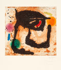 Prints, JOAN MIRÓ (Spanish, 1893-1983). Le Dandy, 1969. Etching and aquatint in colors with carborundum on wove paper. 16-1/8 x ...