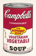 Post-War & Contemporary:Pop, ANDY WARHOL (American, 1928-1987). Vegetarian Vegetable(from Campbell's Soup II), 1969. Screenprint in colors.31-3...