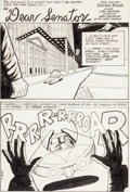 """Original Comic Art:Complete Story, Sheldon Mayer The Unexpected #217 Complete 10-Page AbrahamLincoln Story """"Dear Senator"""" Original Art (DC, 1981).... (Total: 10Original Art)"""