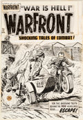 Original Comic Art:Covers, Lee Elias Warfront #20 Cover Original Art (Harvey, 1954)....(Total: 2 Items)