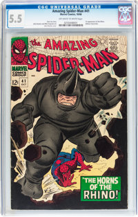 The Amazing Spider-Man #41 (Marvel, 1966) CGC FN- 5.5 Off-white to white pages