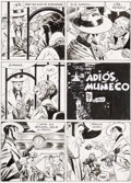 "Original Comic Art:Panel Pages, Jordi Bernet Torpedo #T14 Title Page 1 ""Adios, Muneco""[Goodbye, Doll] Original Art (Glenat, 1999)...."