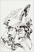 Original Comic Art:Covers, Ed McGuinness Incredible Hulk #8 Variant Cover Original Art(Marvel 2012)....