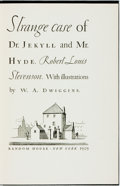 Books:Science Fiction & Fantasy, W. A. Dwiggins, illustrations. SIGNED/LIMITED. Robert Louis Stevenson. Strange Cases of Dr. Jekyll and Mr. Hyde. ...