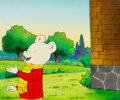 Animation Art:Production Cel, Rupert Production Cel with Key Master Hand-PaintedBackground (Nelvana Limited, 1991). ...
