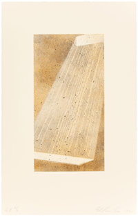 ED RUSCHA (American, b. 1937) Bolt IV, 1998 Lithograph in colors 14-1/8 x 7-1/4 inches (35.9 x 18