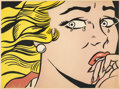 Prints:Contemporary, ROY LICHTENSTEIN (American, 1923-1997). Crying Girl, 1963.Offset lithograph in colors. 17 x 23 inches (43.2 x 58.4 cm)...