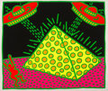 Post-War & Contemporary:Contemporary, KEITH HARING (American, 1958-1990). Untitled 1-5 (FertilitySeries): Plate #2, 1983. Screenprint in colors on wove paper...