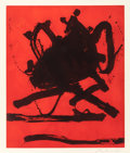 Fine Art - Work on Paper:Print, ROBERT MOTHERWELL (American, 1915-1991). Red Sea II, 1979.Etching and aquatint in colors. 23-5/8 x 19-3/4 inches (60.0 ...
