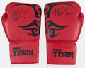 Boxing Collectibles:Autographs, Mike Tyson Signed Boxing Gloves Lot of 2....