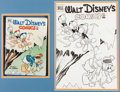 Original Comic Art:Covers, Carl Buettner Walt Disney's Comics and Stories #128 DonaldDuck and the Nephews Cover Original Art (Dell, 1951)....